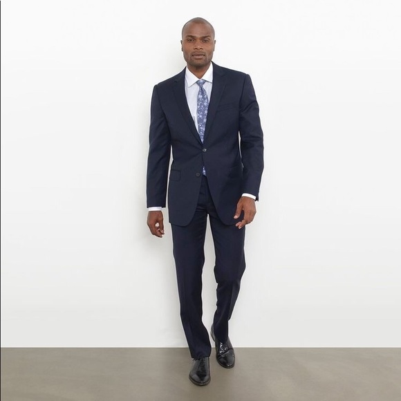 33ba8c12e46e Combatant Gentlemen Suits & Blazers | Modern Fit Suit In Navy Blue ...